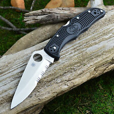 Spyderco Endura 4 Combo Blade Black Handle VG-10 Knife C10PSBK