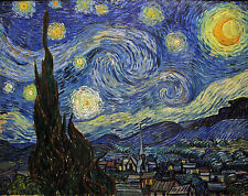 Starry Night by Vincent Van Gogh - Landscape Art Print Oversize Poster 50x41
