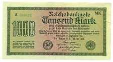 Germany Weimar Republic Reichsbanknote 1000 Mark 15.9. 1922 VF #75f