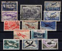 B137323/ FRANCE – AIRMAIL – YEARS 1930 - 1959 USED SEMI MODERN LOT – CV 155 $
