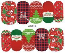 Nail Art Stickers Decals Transfers Merry Christmas Xmas (WG215)