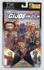 2007 GI Joe 25th Crimson Guard & Scarred Cobra Officer Comic 2 Pack MOC Hasbro
