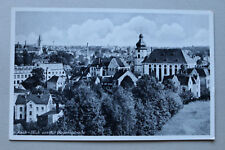 Tschechien CZ AK Asch Aš 1930er Ortsansicht Kirche Häuser Gebäude v Bayernstraße