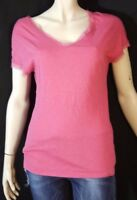 SISLEY Taille XS 34 Superbe haut top tee shirt manches courtes femme rose T-shir