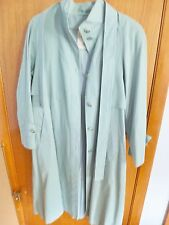 Woman's London Town Fully Lined Belted Green Raincoat Size 10 Machine Washable