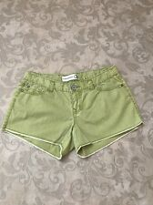 Womens Inked & Faded Shorts Light Green Size 4