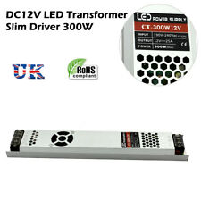 DC12V Ultra Slim 300W LED Strip Driver Switching Power Supply Transformer Light