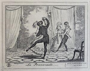 George Cruikshank etching La Promenade McLean 1835