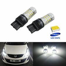 2 Voiture Ampoules W21W T20 W21/5W LED Blanc Veilleuses position Jour diurne DRL