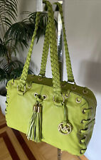 MICHAEL KORS Astor Original Studio Dsg. Grommets Leather Satchel Carryall Bag