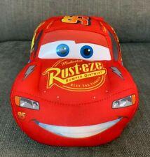 "Disney Pixar cars Lightening McQueen Soft Toy Night Light Up Eyes 12"""