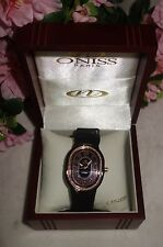 Oniss Paris Ceramic Watch Saphire Crystal Swiss Movement black /gold new