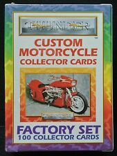 1993 CUSTOM MOTORCYCLE COLLECTOR CARDS - Factory Set 100 Collector Cards/Thunder