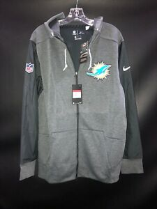 MIAMI DOLPHINS NIKE TEAM ISSUED FULL ZIP HOODIE JACKET NEW W/TAGS SZ-LARGE