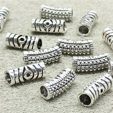 4pcs of 925 Sterling Silver Evil Eye Curved Tube Beads