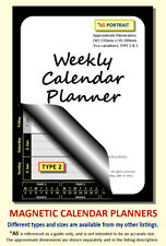 TYPE 2, BLACK A5 PORTRAIT MAGNETIC CALENDAR PLANNER BESPOKE SELECT MONTH & YEAR