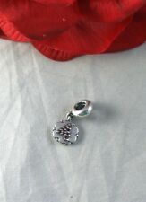 Sterling Silver Pandora Retired Number 4  Dangle  Charm CAT RESCUE