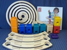"14 Piece Lot of Hape Quadrilla Marble Run, from Incomplete ""The Roundabout"" Set"