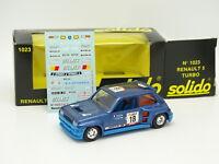 Solido 1/43 - Renault 5 Turbo Tour de Corse Gitanes 1023