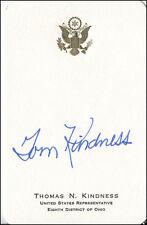 TOM N. KINDNESS - CALLING CARD SIGNED