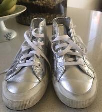 SUPERGA Silver Midtop Sneakers 39