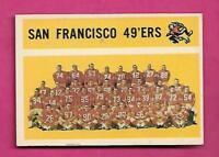1960 TOPPS # 122 SAN FRANCISCO 49 ERS TEAM PHOTO EX+ CARD (INV# C0488)
