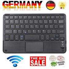 Kabellose Bluetooth Tastatur Schlank mit Touch Keyboard Pad für iPad PC Tablet