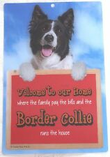 Faithful Friends Collectables Welcome 3d Hang-up Border Collie 2 Fs603