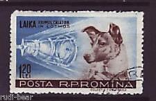 Rumänien Nr.  1685  gest.     Hündin Lejka  Erste Weltraumfahrerin