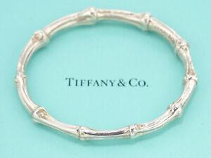 TIFFANY&Co Bamboo Bracelet Silver 925 Bangle v1312