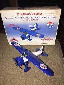 Amoco AIRPLANE BANK Die Cast Metal 1:32 Collector Series 1932 Lockheed VEGA (AB)