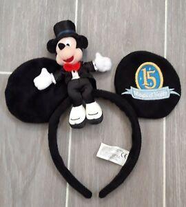 Disneyland Paris 15th Anniversary Mickey Mouse Ears Headband with Plush Mickey
