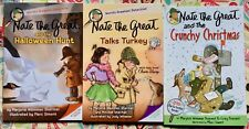 Lot of 3 Nate the Great: Christmas, Talks Turkey, Halloween Hunt NEW PB