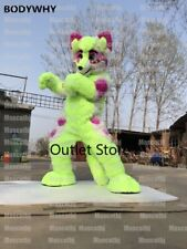Fursuit Long Fur Husky Mascot Costume Cosplay Party Outfit Advertising Carnival