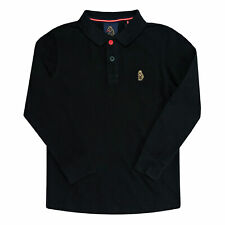Junior Boys Luke 1977 Williams Long Sleeve Polo Shirt In Black- Long Sleeve-