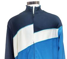 OAKLEY Full Zip Up Jacket 2009 Track Blue Black Color Block Mens Size Large.