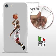iPhone 7 TPU CASE COVER PROTETTIVA GEL TRASPARENTE NBA Basket Michael Jordan