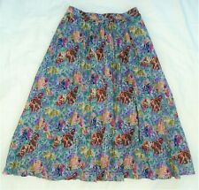 Vintage 80s skirt by Clothkits - Indian elephant & camel print, stretchy waist