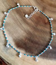 925 Sterling Silver Turquoise Anklet