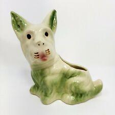 Antique Porcelain Miniature Schnauzer Dog Planter