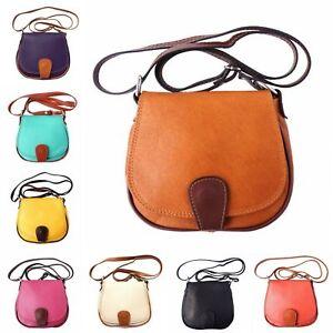 Quality Handmade Italian Leather Small Cross Body Bag Various Colours