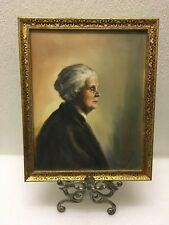 Vintage Art Deco Real Oil Painting Framed In Hand Made Frame Nora Finestone