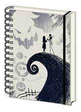 A5 Nightmare Before Christmas Spiral Hill Notebook Official Licensed Wiro Hard