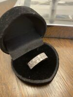 Genuine 9ct Gold 1ct Baguette Diamond Engagement, Wedding, Eternity Band Ring