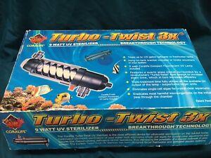 Coralife Turbo Twist 3x UV Sterilizer 9 Watts for Aquariums up to 125 Gallons