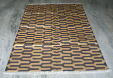Vintage Anatolian Turkish Kilim Rug,Area Rug  Gold Zari Work Area Rugs Carpet