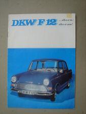 DKW  F 12  brochure/Prospekt  ca.1965.
