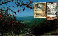 St. Thomas U.S. Virgin Islands Postcard Stamps Briefmarken Jamaica Jamaika ~1970