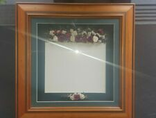 3D A4 certificate frame.  Heritage colours in Baltic wooden frame.