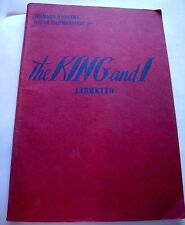 The King and I Libretto Vocal Book 1951 Theater Rogers Hammerstein Musical Vtg